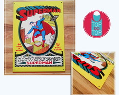 Placa vintage Superman