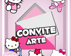 Convite (Arte) - Hello Kitty