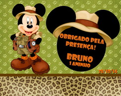 "Tag Agradecimento ""Mickey safari"""