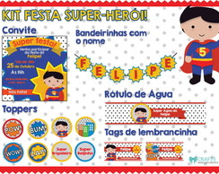 Kit Festa Super Herói