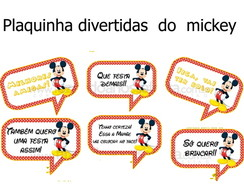 plaquinha divertidas do mickey