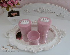 Kit higiene princesa rosa