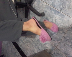 chinelo de crochê