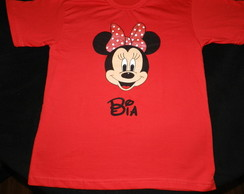 camiseta MINNIE -c/ nome ADULTO