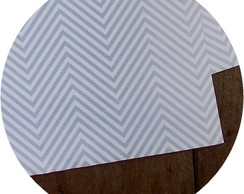 Papel Scrapbook Chevron [azul]
