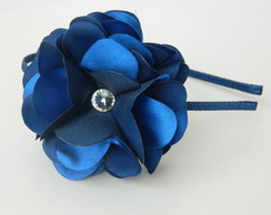 Tiara Flor Azul Royal