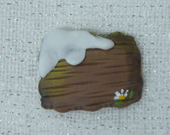 Mini placa decorativa com neve