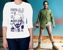 **CAMISETA FEMININA 3/4- BREAKING BAD