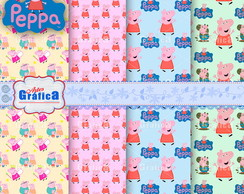kit Papel Digital Personalizad Peppa 034