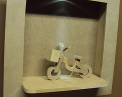 Quadro com led e bicicleta decorativa