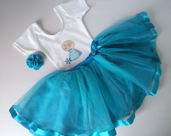 Conjunto Princesa do Gelo - 1 a 8 anos