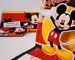Convite Mini Pop Up - Mickey Mouse