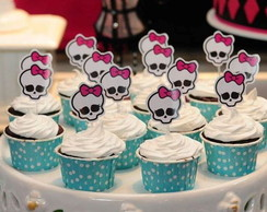 Topper Tag para cupcake Monster High 7cm