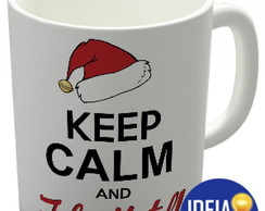 "Caneca ""Keep calm and Feliz Natal!"""