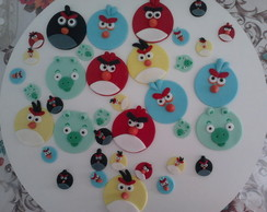 Toppers para cup cakes Angry Birds