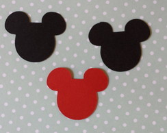 Aplique para scrapbook - Minnie e Mickey
