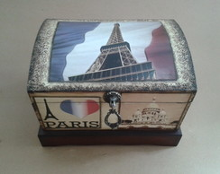 Baú Paris com Decoupage