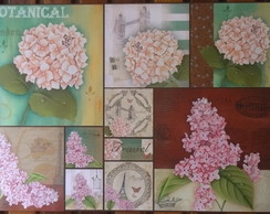 Papel Decoupage Flores PD-882