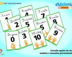 Placas de Números Decorados - cod.02