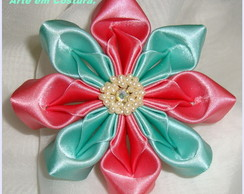 *******Presilha Flor Bi Color *******