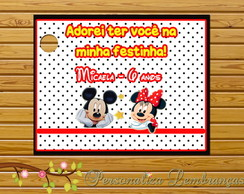 Tags de Agradecimento Mickey e Minnie