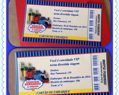 Convite ingresso Thomas & Friends