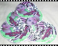 Rotulo Redondo 5x5 (Monster high)