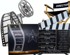 Convite tema hollywood