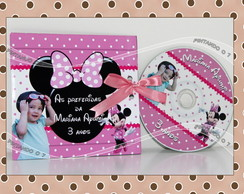 DVD ou CD personalizado Minnie Rosa