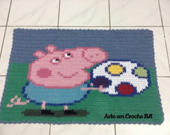 Tapete Croche George Peppa Pig