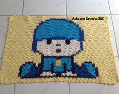 Tapete Crochê Personagem Pocoyo