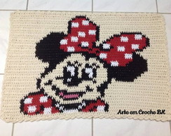 Tapete Crochê Barbante Personagem Minnie