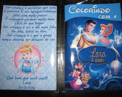 Revista colorir Cinderela 14x10