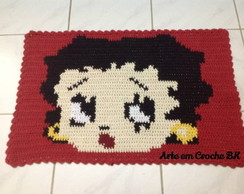 Tapete Crochê Personagem Betty Boop