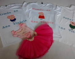Conjunto peppa bordado