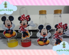 Apliques Mickey e Minnie para tubetes