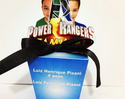 Caixa com Aplique - Power Rangers