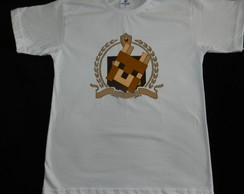 camiseta ALFREDO LEON -jogo do minecraft