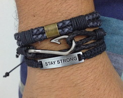 Kit pulseiras masculinas Stay Strong