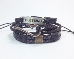 Kit pulseiras masculinas Blessing
