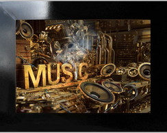 **QUADRO DECORATIVO - MUSIC 04