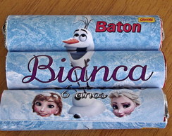 Rótulo Chocolate Baton Frozen