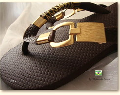 Havaiana  Top Café in Gold
