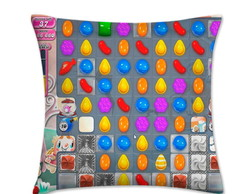 Almofada Candy Crush Doces 32x32cm