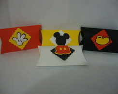 Caixa Pillow de papel - Tema Mickey