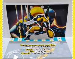 Convite 3D Pop Up Wolverine