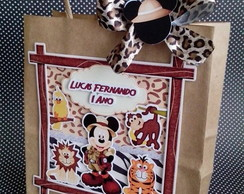 Sacolinha de Papel Scrap - Mickey Safari