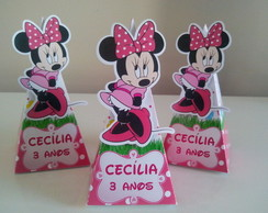 Caixa Cone Minnie com aplique
