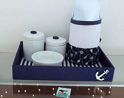 Kit Higiene Porcelana Navy