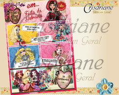 Convite GIBI Ever After high